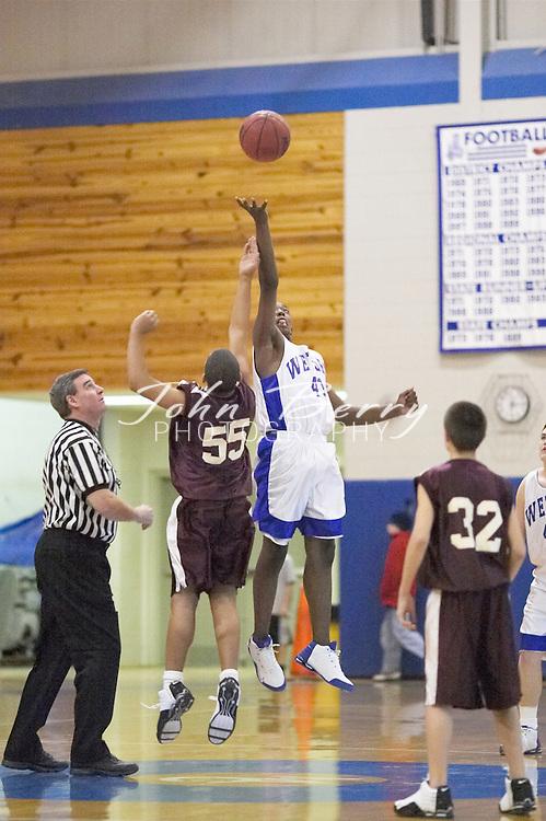 8th Grade Boys Basketball..First Period..vs Luray..December 3, 2004