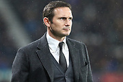 Derby County manager Frank Lampard during the EFL Sky Bet Championship match between Derby County and Wigan Athletic at the Pride Park, Derby, England on 5 March 2019.