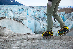 O trekking sobre Glaciar Viedma, localizado dentro do Parque Nacional Los Glaciares, na Província da Santa Cruz, o maior da Argentina. FOTO: Jefferson Bernardes/ Agência Preview