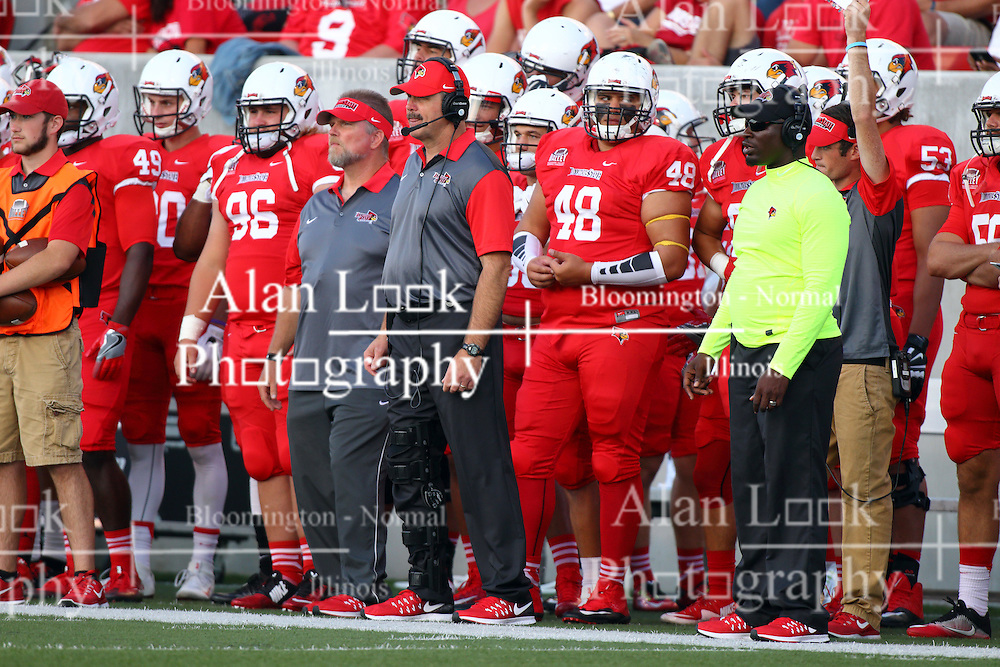 03 September 2016:  Brock Spack. NCAA FCS Football game between Valparaiso Crusaders and Illinois State Redbirds at Hancock Stadium in Normal IL (Photo by Alan Look)