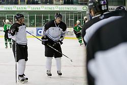 Jure Kralj of HK Partizan during ice-hockey match between HK Olimpija and HK Partizan at second game in Final round of SLOHOKEJ league, on Februar 18, 2012 at Hala Tivoli, Ljubljana, Slovenia. (Photo By Matic Klansek Velej / Sportida)