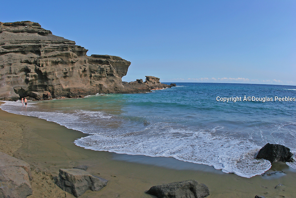 Green Sand Beach, South Point, Island of Hawaii, Hawaii, USA
