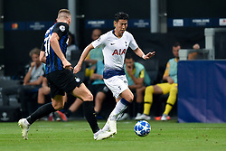 September 18, 2018 - Son Heung-Min of Tottenham Hotspur and Milan Skriniar of Inter Milan fight for the ball during the UEFA Champions League Group B match between Inter Milan and Tottenham Hotspur at Stadio San Siro, Milan, Italy on 18 September 2018. Photo by Giuseppe Maffia. (Credit Image: © AFP7 via ZUMA Wire)