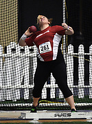 Feb 25, 2017; Seattle, WA, USA; Lena Giger of Washington State places fifth in the women's shot put at 51-9 3/ (15.79m) during the MPSF Indoor Championships at the Dempsey Indoor.