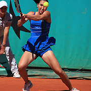 Jelena Jankovic, Serbia, in action against Jarmila Groth, Australia,  during the third round match at the French Open Tennis Tournament at Roland Garros, Paris, France on Saturday, May 30, 2009. Photo Tim Clayton.