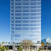 Architects Pei Cobb Freed & Partners have designed an International Style tower in the tradition of Phillip Johnson in La Jolla, California