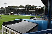 A wet JD Stadium before  the EFL Sky Bet League 1 match between Bury and Port Vale at the JD Stadium, Bury, England on 3 September 2016. Photo by Mark Pollitt.