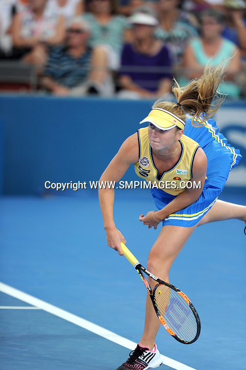 ELINA SVITOLINA (UKR) - BRISBANE INTERNATIONAL TENNIS - ELINA SVITOLINA V AJLA TOMLJANOVIC - PHOTO: SCOTT DAVIS - SMP IMAGES.COM - 06th January 2015 - Action from day 3 of the Brisbane International tennis tournament, being played at Pat Rafter Arena, Brisbane. This image is for Editorial Use Only. Any further use or individual sale of the image must be cleared by application to the Manager Sports Media Publishing (SMP Images). NO UN AUTHORISED COPYING : PHOTO SMP IMAGES.COM