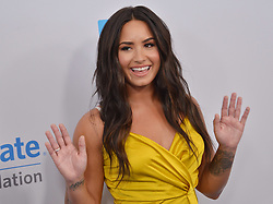 Demi Lovato arrives at We Day California 2017 held at The Forum in Inglewood, CA on Thursday, April 27, 2017. (Photo By Sthanlee B. Mirador) *** Please Use Credit from Credit Field ***