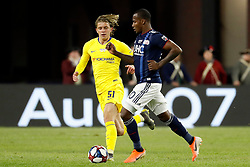 May 15, 2019 - Foxborough, MA, U.S. - FOXBOROUGH, MA - MAY 15: Chelsea FC midfielder Conor Gallagher (51) watches New England Revolution forward Cristian Penilla (70) during the Final Whistle on Hate match between the New England Revolution and Chelsea Football Club on May 15, 2019, at Gillette Stadium in Foxborough, Massachusetts. (Photo by Fred Kfoury III/Icon Sportswire) (Credit Image: © Fred Kfoury Iii/Icon SMI via ZUMA Press)