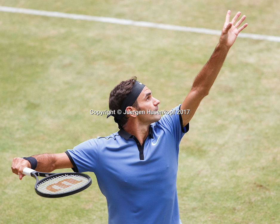 ROGER FEDERER (SUI)<br /> <br /> Tennis - Gerry Weber Open - ATP 500 -  Gerry Weber Stadion - Halle / Westf. - Nordrhein Westfalen - Germany  - 23 June 2017. <br /> &copy; Juergen Hasenkopf