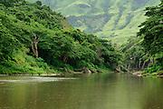 Ba River near Navala Village in the Nausori Highlands of Viti Levu Island, Fiji.