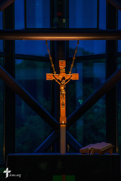 The altar in the International Center chapel during floor-committee weekend at The Lutheran Church–Missouri Synod on Friday, May 27, 2016, in Kirkwood, Mo. LCMS Communications/Erik M. Lunsford