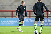 Forest Green Rovers Elliott Frear(17) warming up during the EFL Sky Bet League 2 match between Morecambe and Forest Green Rovers at the Globe Arena, Morecambe, England on 22 October 2019.