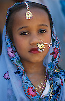 "Pakistan - ""Shiddis "", esclaves de l'empire des Indes. Jeune fille Shiddi, les noirs du Pakistan. // Pakistan. Young Shiddi girl, the black of Pakistan with African origine."