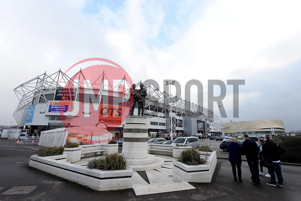 general view outside ipro stadium  - Photo mandatory by-line: Alex James/JMP - Mobile: 07966 386802 - 14/02/2015 - SPORT - Football - Derby  - ipro stadium - Derby County v Reading - FA Cup - Fifth Round