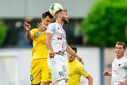 Branko Ilic of Domzale vs Stefan Stevanovic of Tabor Sezana during football match between NK Domzale and NK CB24 Tabor Sezana in 31st Round of Prva liga Telekom Slovenije 2019/20, on July 3, 2020 in Sports park, Domzale, Slovenia. Photo by Vid Ponikvar / Sportida