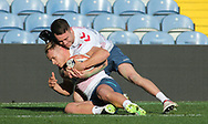 Richie Myler tackled team mate Jonny Lomax  during the England Rugby League captain's run ahead of the 3rd Autumn International Series Match at Elland Road, Leeds<br /> Picture by Stephen Gaunt/Focus Images Ltd +447904 833202<br /> 10/11/2018