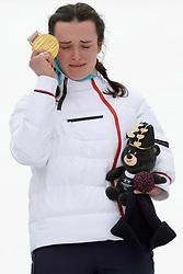 BOCHET_Marie, ParaSkiAlpin, Para Alpine Skiing, Slalom, Podium during the PyeongChang2018 Winter Paralympic Games, South Korea.