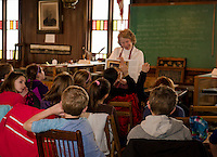 Gilford Elementary School Thompson-Ames Historical Society walking field trip.  Karen Bobotas Photographer