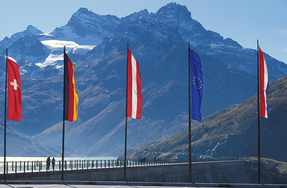 Silvretta Damm, Bieler Hoehe, Hochalpenstrasse, Vorarlberg, Austria