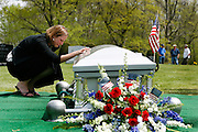 Katie Christopher says a final goodbye to her boyfriend of six years, Army First Lieutenant Ryan Patrick Jones of Westminster.