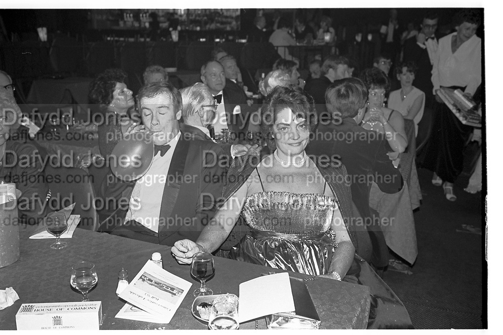 Couple at Conservative Ball, N.W. CONSERVATIVE BALL.  Frimley Lakeside Club, 9 November 1983. <br /> <br /> SUPPLIED FOR ONE-TIME USE ONLY> DO NOT ARCHIVE. © Copyright Photograph by Dafydd Jones 248 Clapham Rd.  London SW90PZ Tel 020 7820 0771 www.dafjones.com