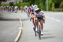 Chantal Blaak (NED) jumps off the front of the lead group in the closing kilometres at OVO Energy Women's Tour 2018 - Stage 5, a 122 km road race from Dolgellau to Colwyn Bay, United Kingdom on June 17, 2018. Photo by Sean Robinson/velofocus.com