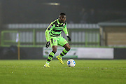 Forest Green Rovers Drissa Traoré(4) \on the ball during the Vanarama National League match between Forest Green Rovers and Tranmere Rovers at the New Lawn, Forest Green, United Kingdom on 22 November 2016. Photo by Shane Healey.