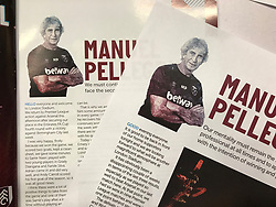 General view of the matchday programme before the Premier League match at the London Stadium.