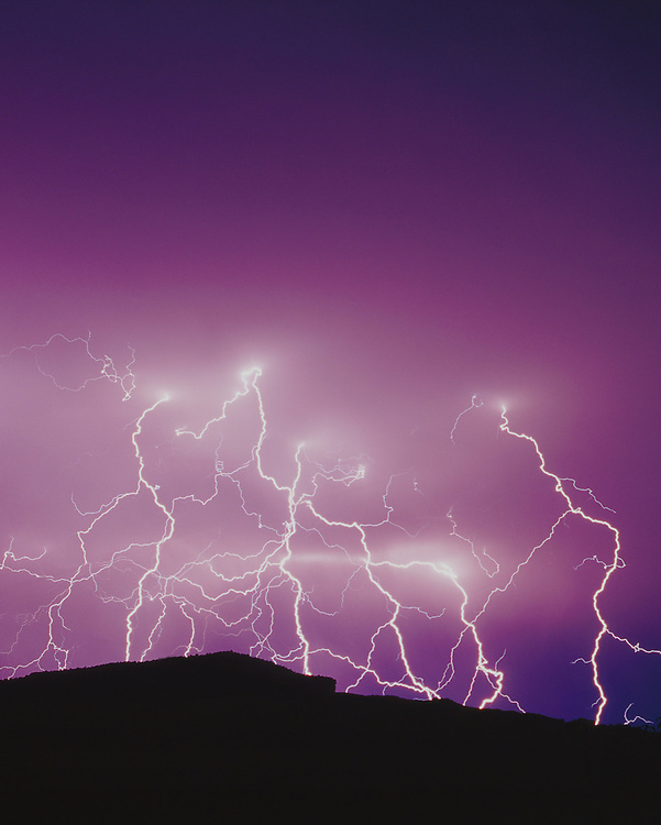 Lightning storm over Mt Lincoln, Palisade, Colorado