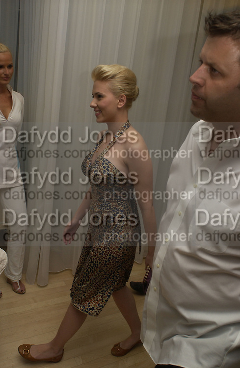 "Scarlett Johansen arriving at the post - premiere party for   ""The Island"" at the Sanderson, London. 7 August 2005. , ONE TIME USE ONLY - DO NOT ARCHIVE  © Copyright Photograph by Dafydd Jones 66 Stockwell Park Rd. London SW9 0DA Tel 020 7733 0108 www.dafjones.com"