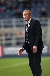 Falkirk's manager Gary Holt.<br /> Falkirk 1 v 2 Dumbarton, Scottish Championship game played today at the Falkirk Stadium.<br /> &copy;Michael Schofield.