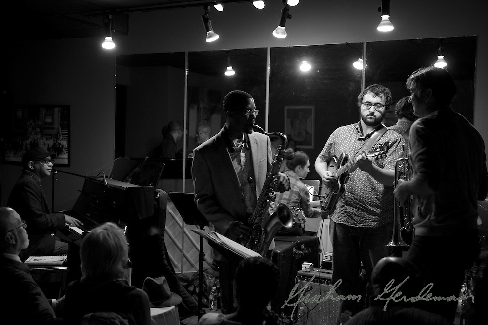 The Marcus Finnie Band performing live in 2013 with trumpet superstar Rick Braun at Nine48Jazz in Nashville, TN.