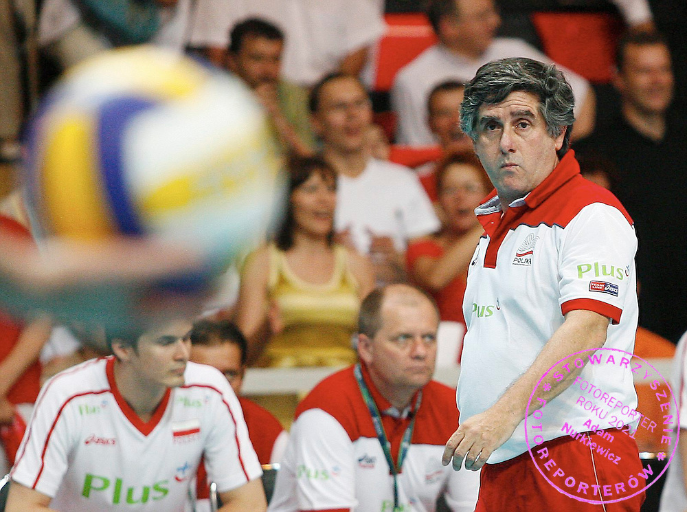 LODZ 25/05/2007.VOLLEYBALL WORLD LEAGUE 2007.POOL D INTERCONTINENTAL ROUND.POLAND v CHINA.RAUL LOZANO.FOT. PIOTR HAWALEJ / WROFOTO