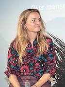 2018, Oktober 23. Soho House, Amsterdam. Boekpresentatie van Dan Neem Je Toch Gewoon Een Nieuwe, van Antoinette Scheulderman. Op de foto: Fatima Moreiro de Melo