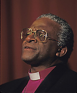 Bishop Desmond Tutu in 1986..Photograph by Dennis Brack bb32