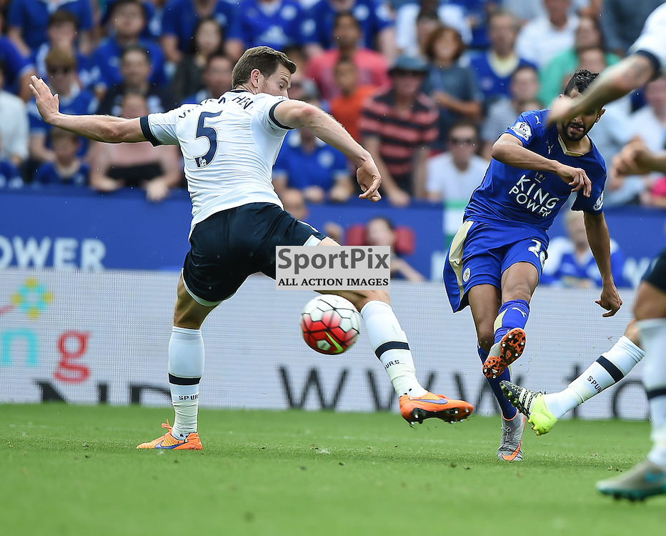 Riyadh Mahrez curls in Leicester's equaliser to make it 1-1 (c) Simon Kimber | SportPix.org.uk