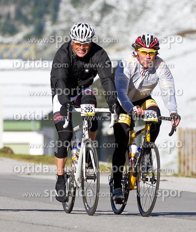 28.08.2011, AUT, Oetztaler Radmarathon 2011, im Bild Jan Ullrich #295 gemeinsam mit seinem Freund Frank Wörndl #296,, during the Oetztaler Radmarathon 2011, EXPA Pictures © 2011, PhotoCredit: EXPA/ P.Rinderer