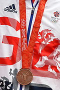 Detail shot of Martyn Rooney of Great Britain's 2008 Beijing Olympic Bronze Medal during the Muller Anniversary Games at the London Stadium, London, England on 9 July 2017. Photo by Martin Cole.