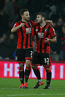 Football - 2016 / 2017 Premier League - AFC Bournemouth vs. Leicester City<br /> <br /> Bournemouth's goal scorer Marc Pugh with Bournemouth's Jack Wilshere at the final whistle at Dean Court (The Vitality Stadium) Bournemouth<br /> <br /> COLORSPORT/SHAUN BOGGUST