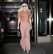Dec. 10, 2015 - New York, NY, USA - <br /> <br /> Lady Gaga leaving her apartment on December 10, 2015 in New York City<br /> ©Exclusivepix Media
