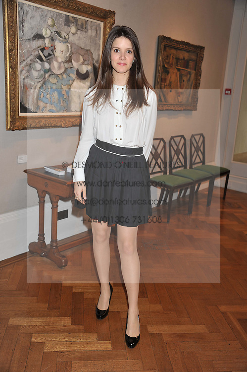SONYA CASSIDY at a reception to unveil the Limited Centenary Edition of Sir George Frampton's statuette of Peter Pan in aid of the Moat Brae Charity held at The Fine Art Society, 148 New Bond Street, London on 1st May 2012.