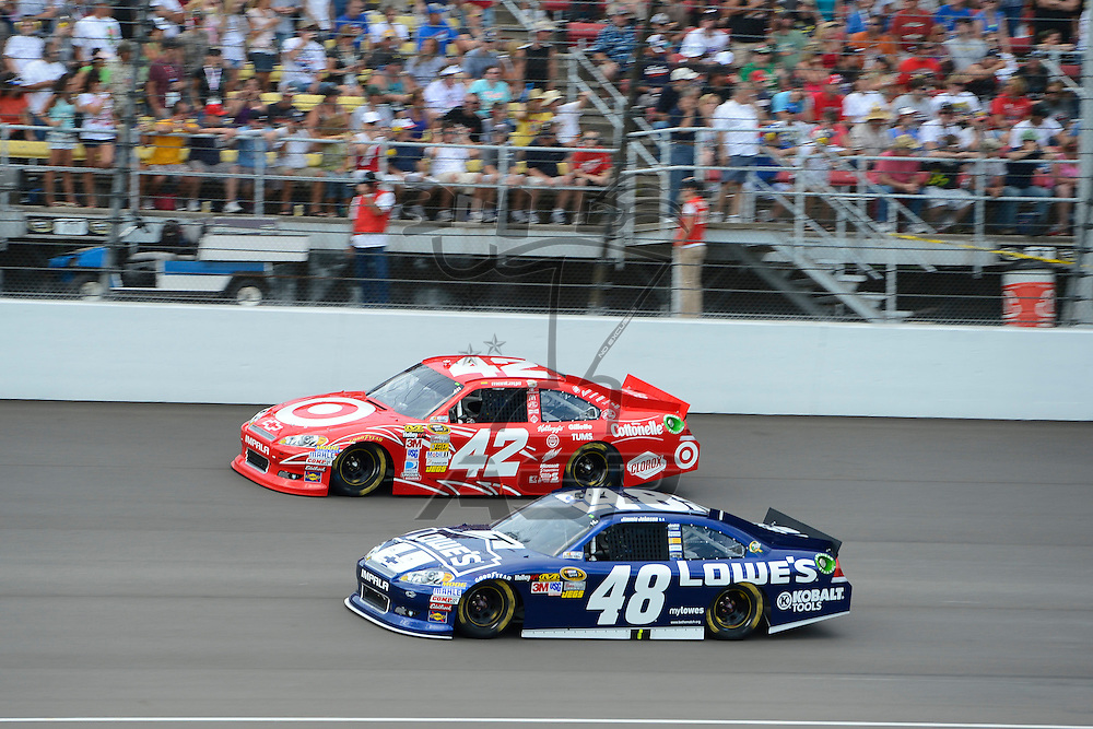 Brooklyn, MI  - Aug 19, 2012: The Nascar Sprint Cup Series practices for the Pure Michigan 400 at Michigan International Speedway in Brooklyn, MI.