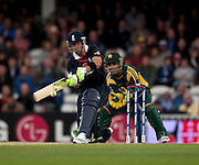 Kevin Pietersen bats during the ICC World Twenty20 Cup match between England and Pakistan at the Oval. Photo © Graham Morris (Tel: +44(0)20 8969 4192 Email: sales@cricketpix.com)