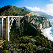 The Big Sur coast of California, the Bixby Bridge and the Pacific Ocean