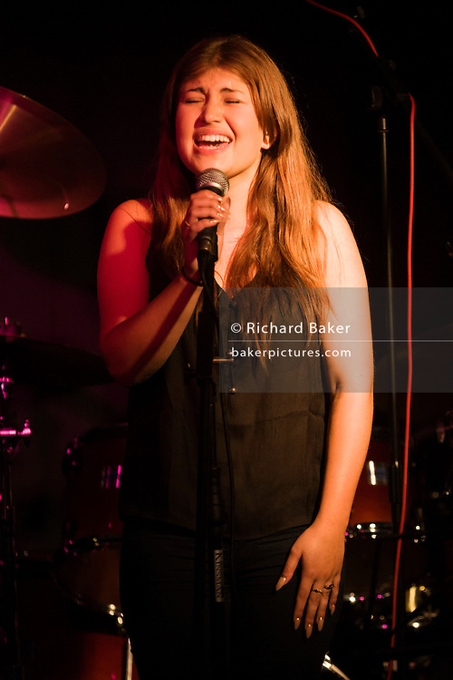 Ellie-Rose Sanford performing in Tulse Hill, South London.