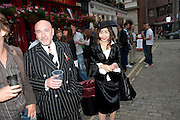 MARK POWELL; OLGA MACKENZIE, Dirty Pretty Things - summer party. Lingerie line hosts  party celebrating its new online shop and showcasing the latest collection. The Lingerie Collective, 8 Ganton Street, Soho. London, 15 June 2011<br /> <br />  , -DO NOT ARCHIVE-© Copyright Photograph by Dafydd Jones. 248 Clapham Rd. London SW9 0PZ. Tel 0207 820 0771. www.dafjones.com.