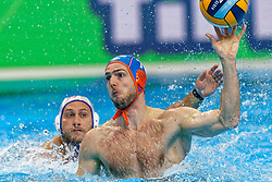 Lars Gottemaker #7 of Netherlands during Netherlands vs Malta on LEN European Aquatics Waterpolo January 21, 2020 in Duna Arena in Budapest, Hungary