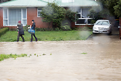 Rising waters as the Heathcote River threatens properties in the suburb of Cashmere, Christchurch, New Zealand, Saturday, July 22, 2017. Credit:SNPA / Adam Binns ** NO ARCHIVING**